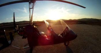 Gyrokopterflug in Spanien