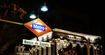 """U-Bahnstation """"Banco de España"""" - Bank von Spanien"""